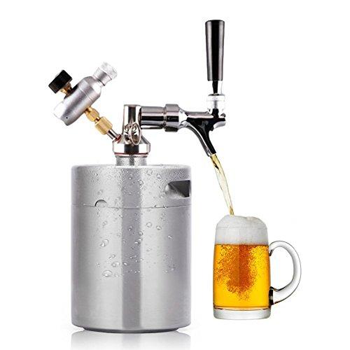 HaveGet ビールサーバー 家庭用 co2ビール ビア サーバー 生ビールサーバー ビール ディスペンサー 屋外用 樽 ミニケグ Mini Keg Dispenser (ミニケグ2L+デイスペンサー1号)