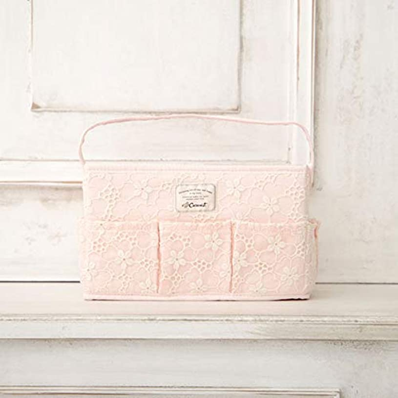 中世の若い開梱[ コクーニスト ] Cocoonist フラワー柄コスメバスケットL ピンク