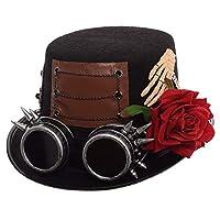 GRACEARTスチームパンクトップゴーグル付き帽子(様々なスタイル)