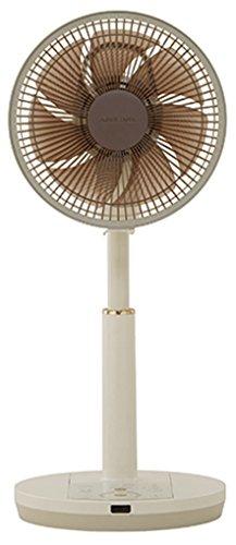 アピックス 扇風機 DCモーター搭載 リビング扇(リモコン付 アイボリー×シャンパンゴールド)APIXAFL-328R-CG