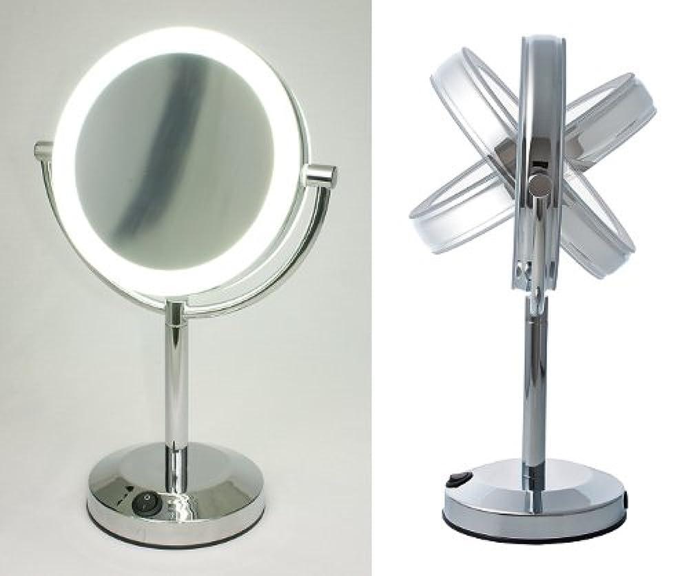 乳白色副白菜【ハイクオリティ 拡大鏡】 LEDライト搭載 真実の鏡DX 【両面型】