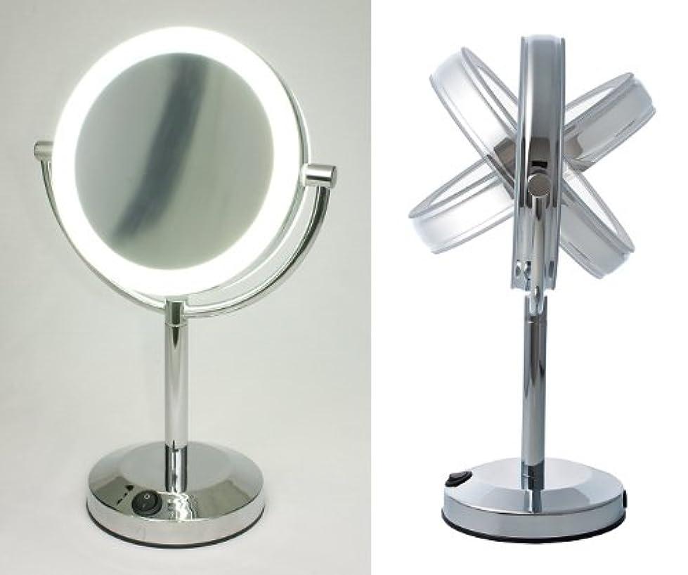 モスク領域表面的な【ハイクオリティ 拡大鏡】 LEDライト搭載 真実の鏡DX 【両面型】