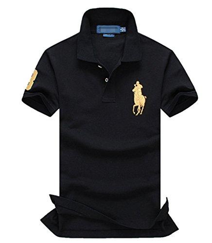 シーリアの衣料品店2016 polo ポロシャツ高品質のビッグサイズ (XL, ブラック)