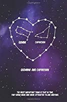 2020 The Astrology of Love between Gemini and Capricorn horoscope,love, relationship and compatibility: Lined Notebook / journal gift, 110 pages, 6x9 inches, matte finish cover