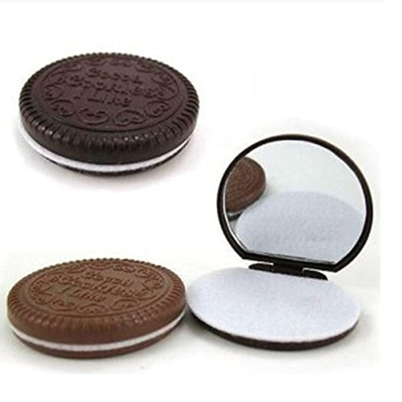 3 Pcs Cute Chocolate Makeup Mirror With Comb Women Hand Pocket Compact Makeup Tools Great Gift [並行輸入品]