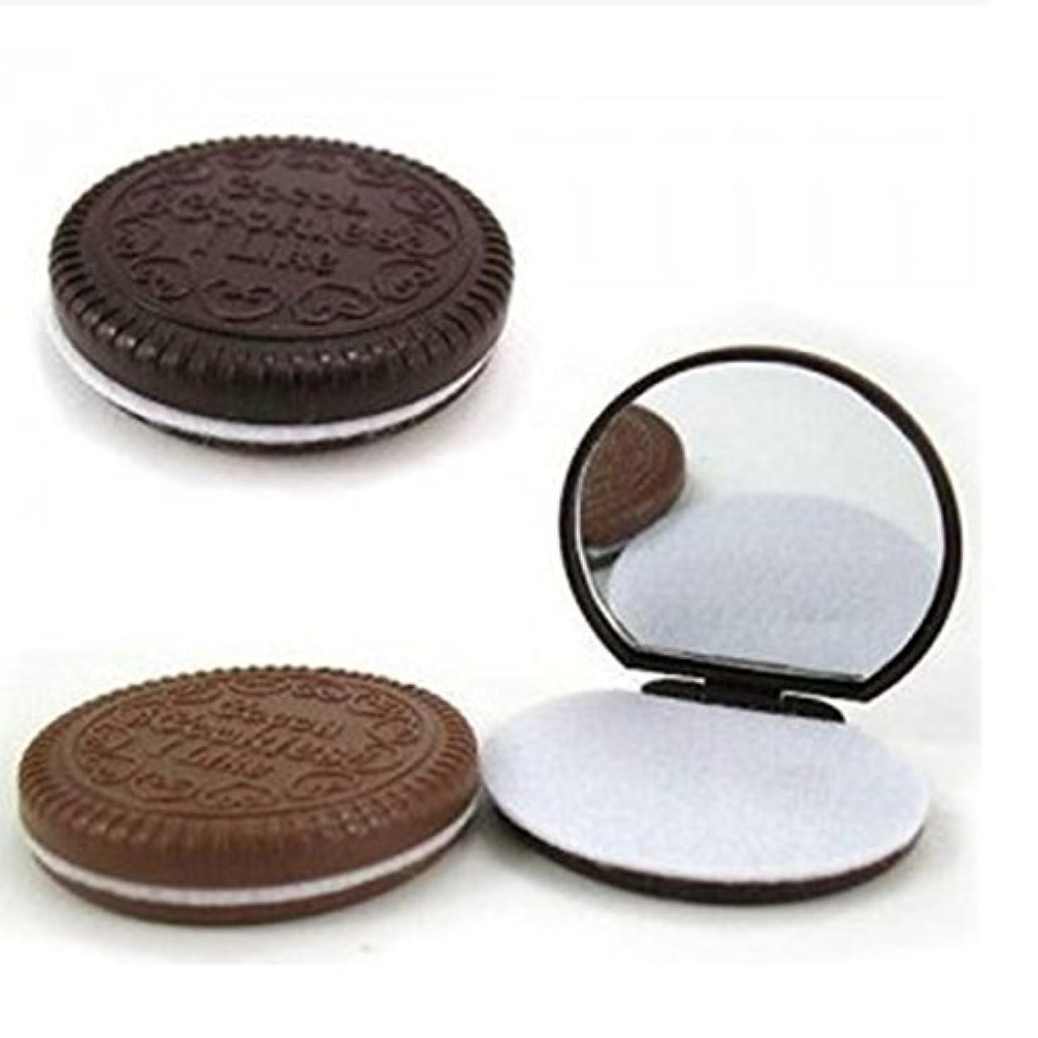 紫の証言甘味3 Pcs Cute Chocolate Makeup Mirror With Comb Women Hand Pocket Compact Makeup Tools Great Gift [並行輸入品]