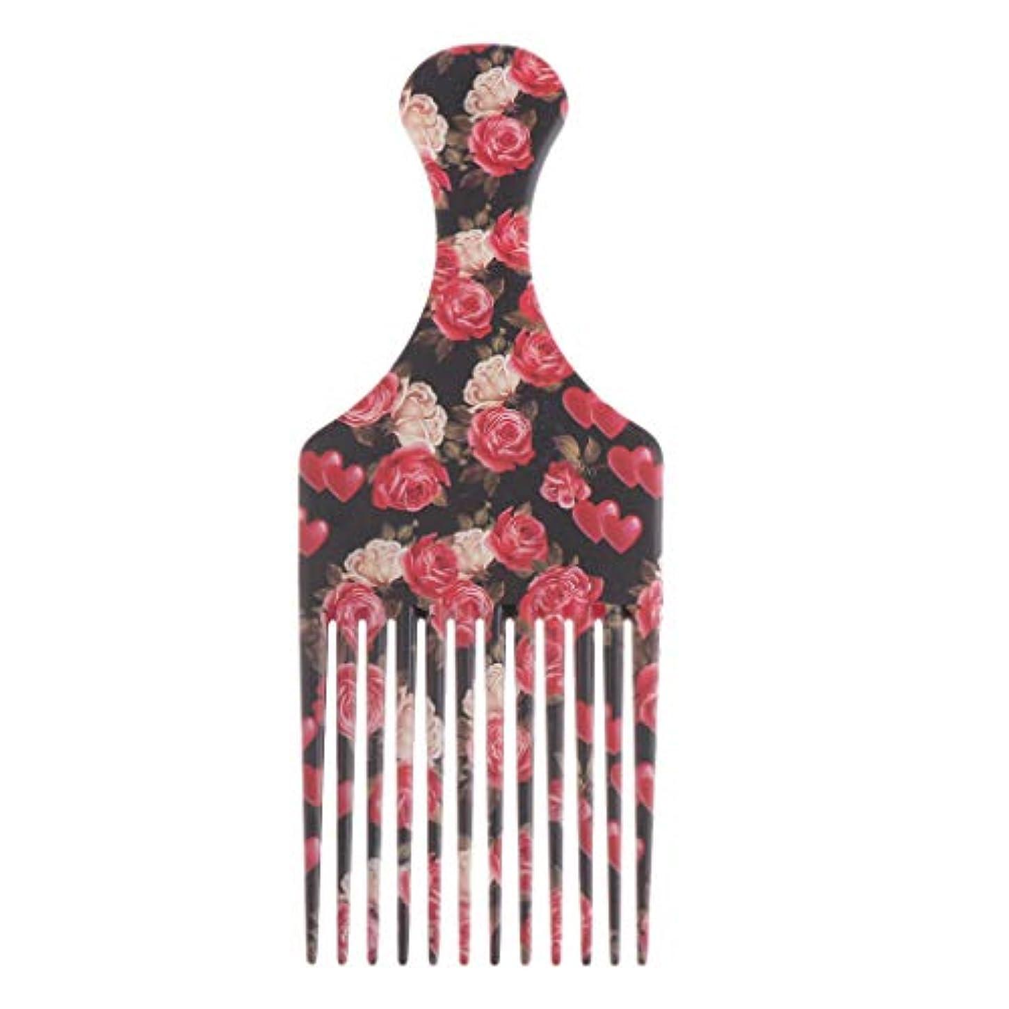 ピクニックをする焦げパターンヘアダイブラシ 毛染めコーム 髪染め用ヘアコーム サロン 美髪師用 DIY髪染め用 全3サイズ - 大