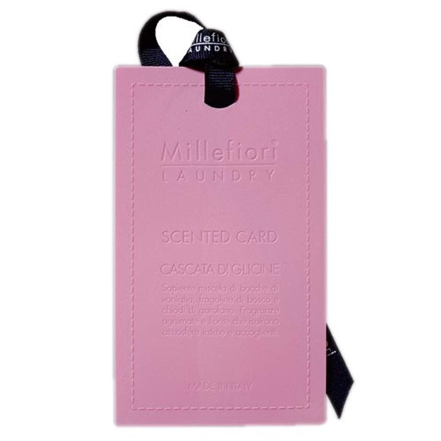 組み立てる右浴室Millefiori センテッドカード ウィステリア CARD-A-003