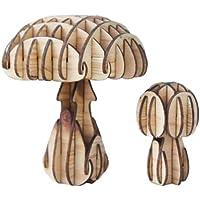 森の木組みシリーズ「きのこのおやこ」