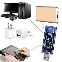 BODYA USB電流電圧テスター USB電圧モニター 3-9V/0-3Aメーター 計測 チェッカー 多機能 LCD ディスプレイ バッテリ 電圧計電圧電流計電流検出器