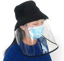 防護帽 サンバイザー 花粉症対策 ウイルス対策 漁師帽 折りたたみ フェイスカバー取り外し可能 日除け帽子 バイザー UVカット 飛沫を防ぐ 防塵