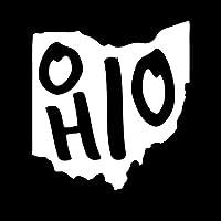 オハイオ州状態ビニールデカールステッカー| Cars Trucks Vans壁Windowsノートパソコンカップ|ホワイト| 5.5X 5.1| kcd1950