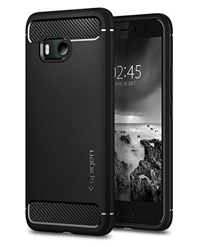 【Spigen】 HTC U11 ケース, [ 米軍MIL規格取得 落下 衝撃 吸収 ] ラギッド・アーマー エイチ ティー シー U11 用 カバー (HTC U11, ブラック)