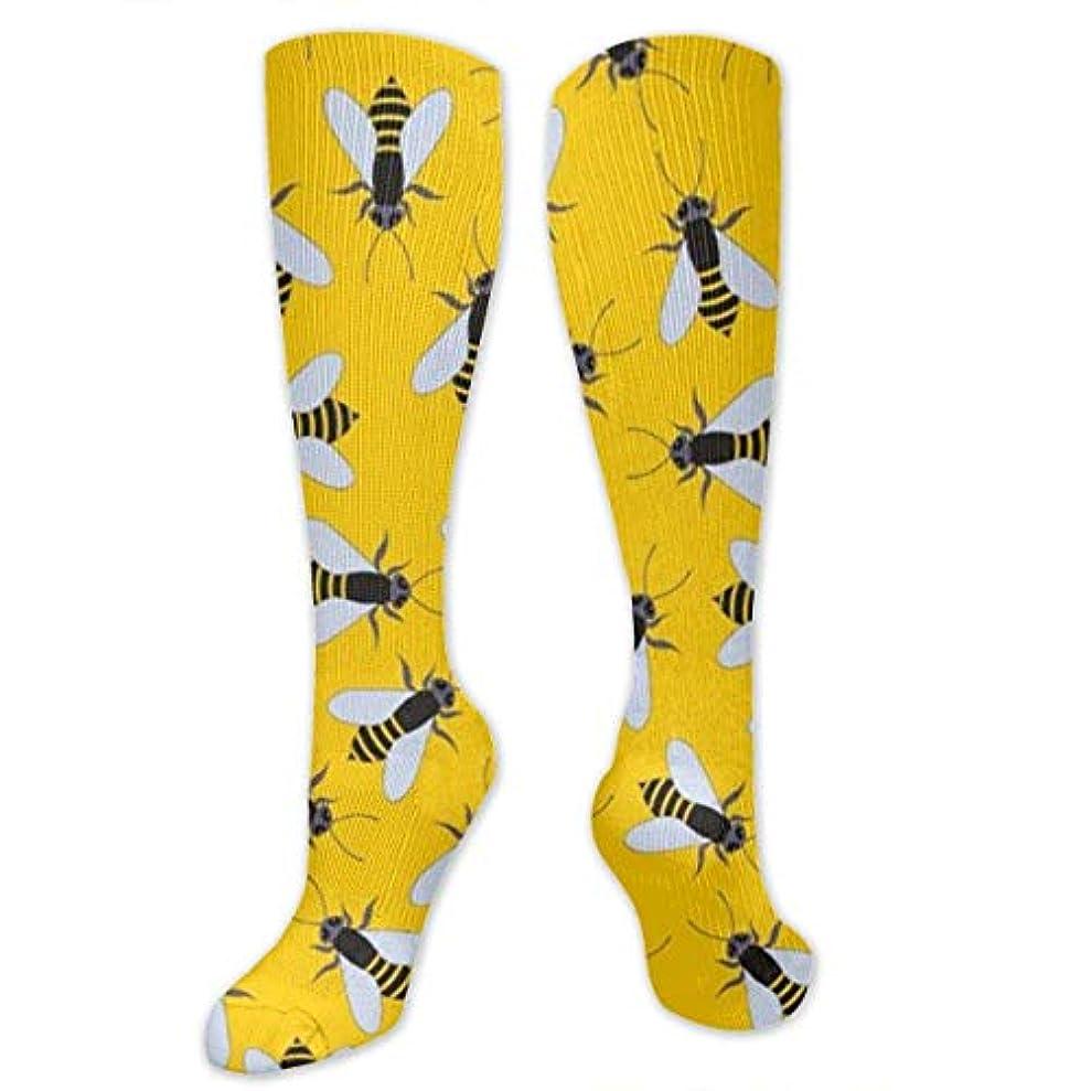 火曜日特権的禁止靴下,ストッキング,野生のジョーカー,実際,秋の本質,冬必須,サマーウェア&RBXAA Dotted Grid Bee Socks Women's Winter Cotton Long Tube Socks Knee High...