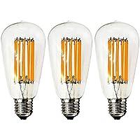 エジソン電球 LED電球 E26 12W 100W相当 ST64 非調光対応 電球色2700K 1300lm エジソンランプ高辉度 玄関 居間 照明 3個セット