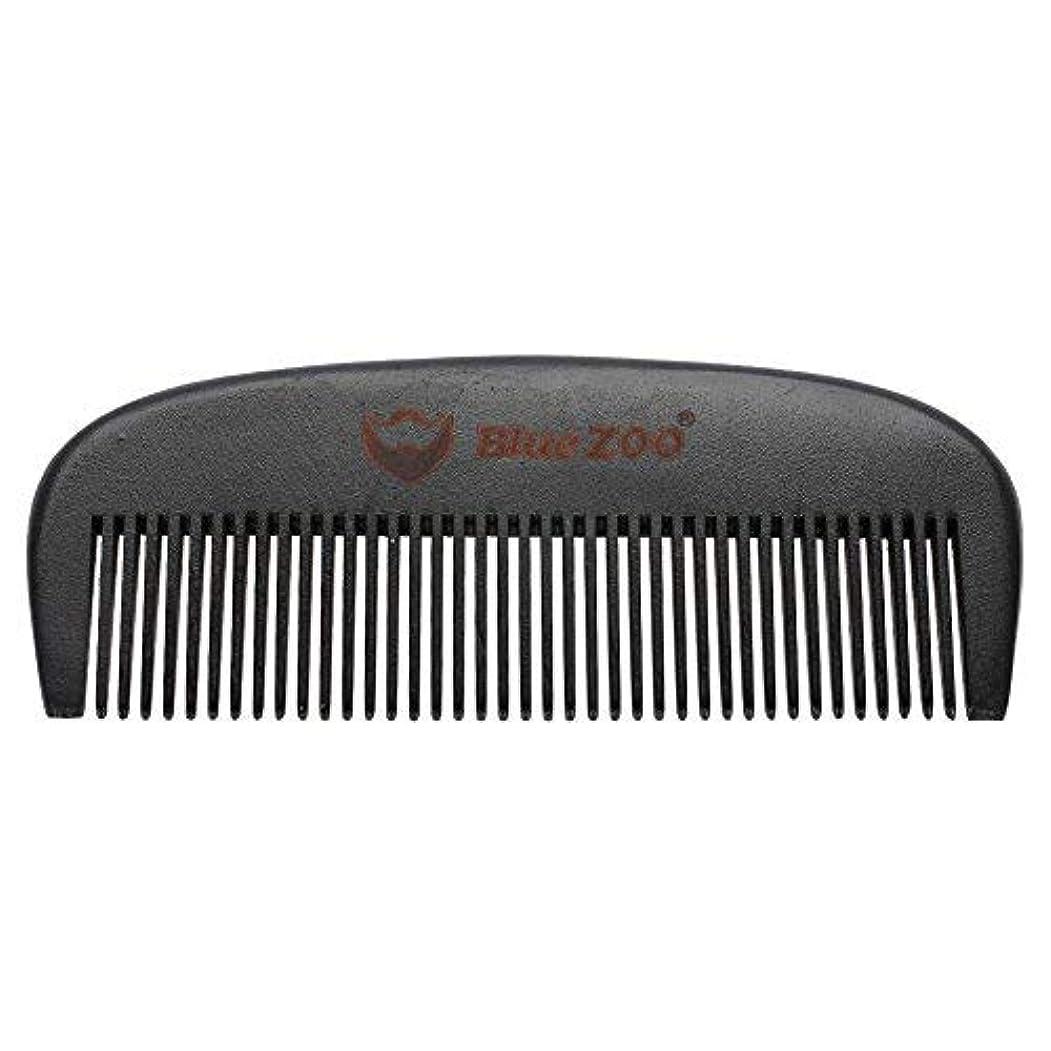 比較的エスカレーター市区町村Mens Beard Comb Natural Wooden Moustache Hair Health Care Combing Black Pear Wood Anti-static Fine Wide Tooth...