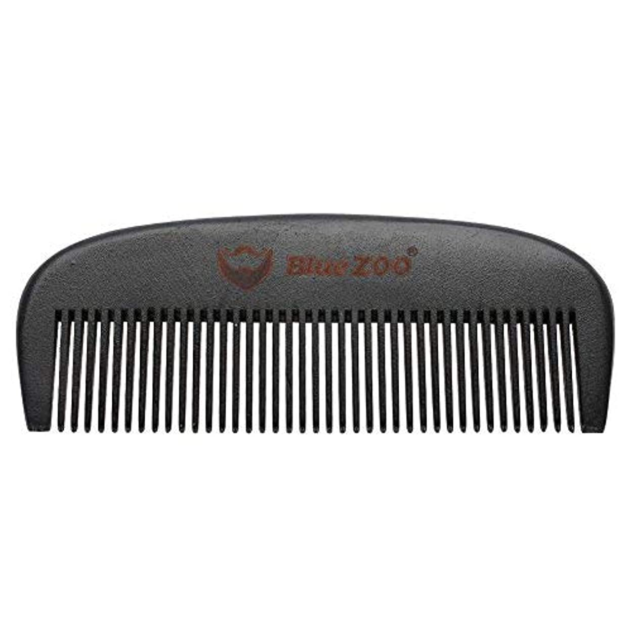 やりがいのある虚偽広範囲Mens Beard Comb Natural Wooden Moustache Hair Health Care Combing Black Pear Wood Anti-static Fine Wide Tooth...