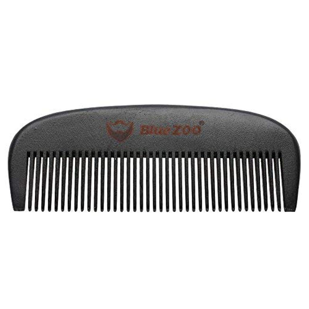 どれでも打ち上げる読書をするMens Beard Comb Natural Wooden Moustache Hair Health Care Combing Black Pear Wood Anti-static Fine Wide Tooth...