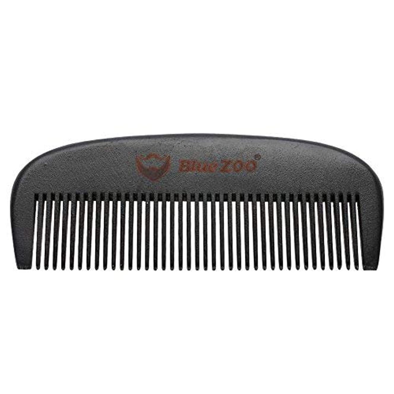 の中でボール腐敗したMens Beard Comb Natural Wooden Moustache Hair Health Care Combing Black Pear Wood Anti-static Fine Wide Tooth...