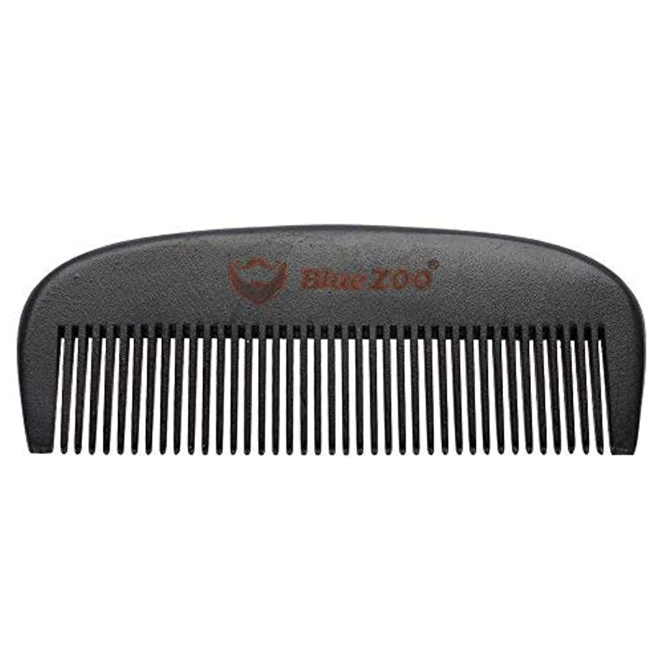 アリ石灰岩不要Mens Beard Comb Natural Wooden Moustache Hair Health Care Combing Black Pear Wood Anti-static Fine Wide Tooth...
