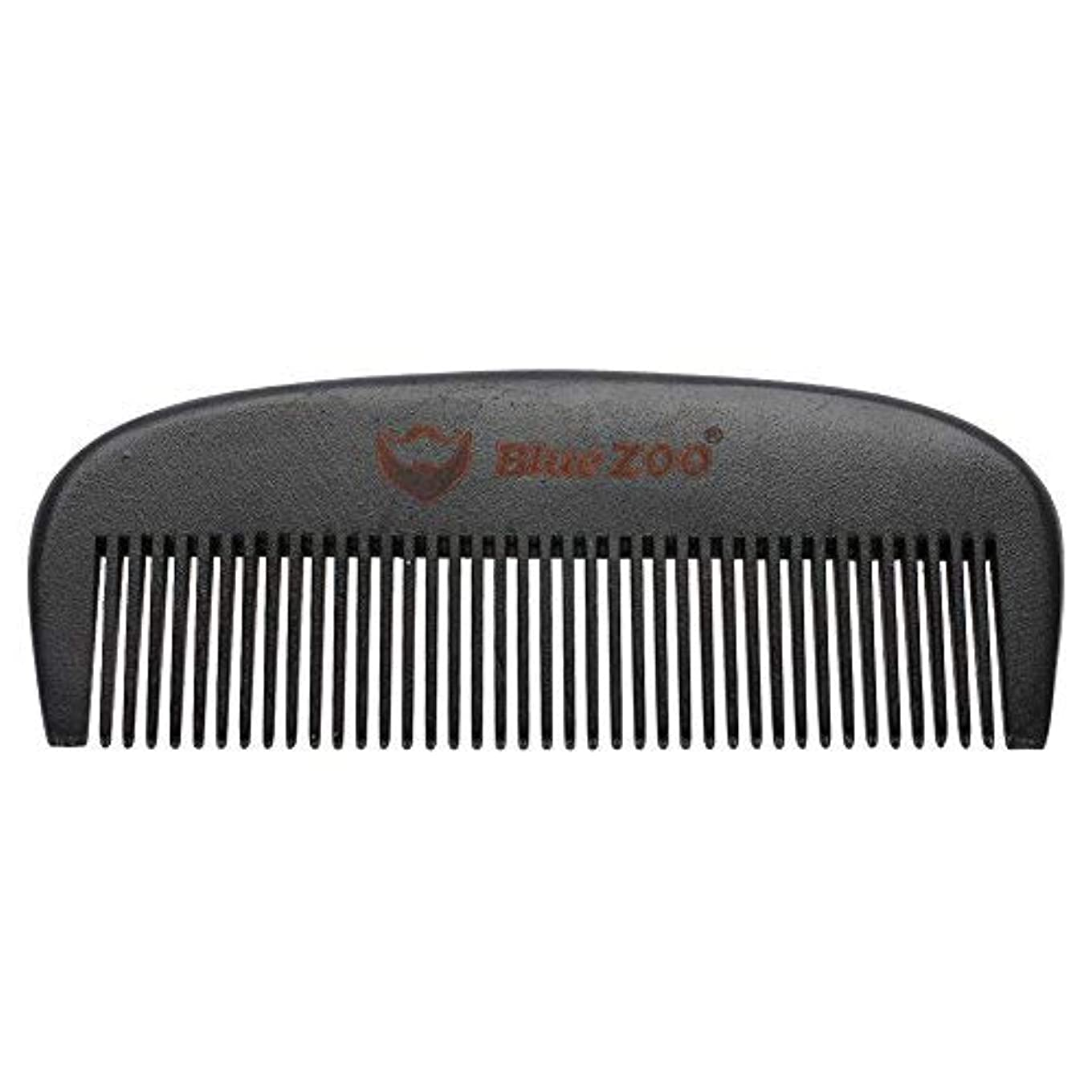 可能性細心の含めるMens Beard Comb Natural Wooden Moustache Hair Health Care Combing Black Pear Wood Anti-static Fine Wide Tooth...