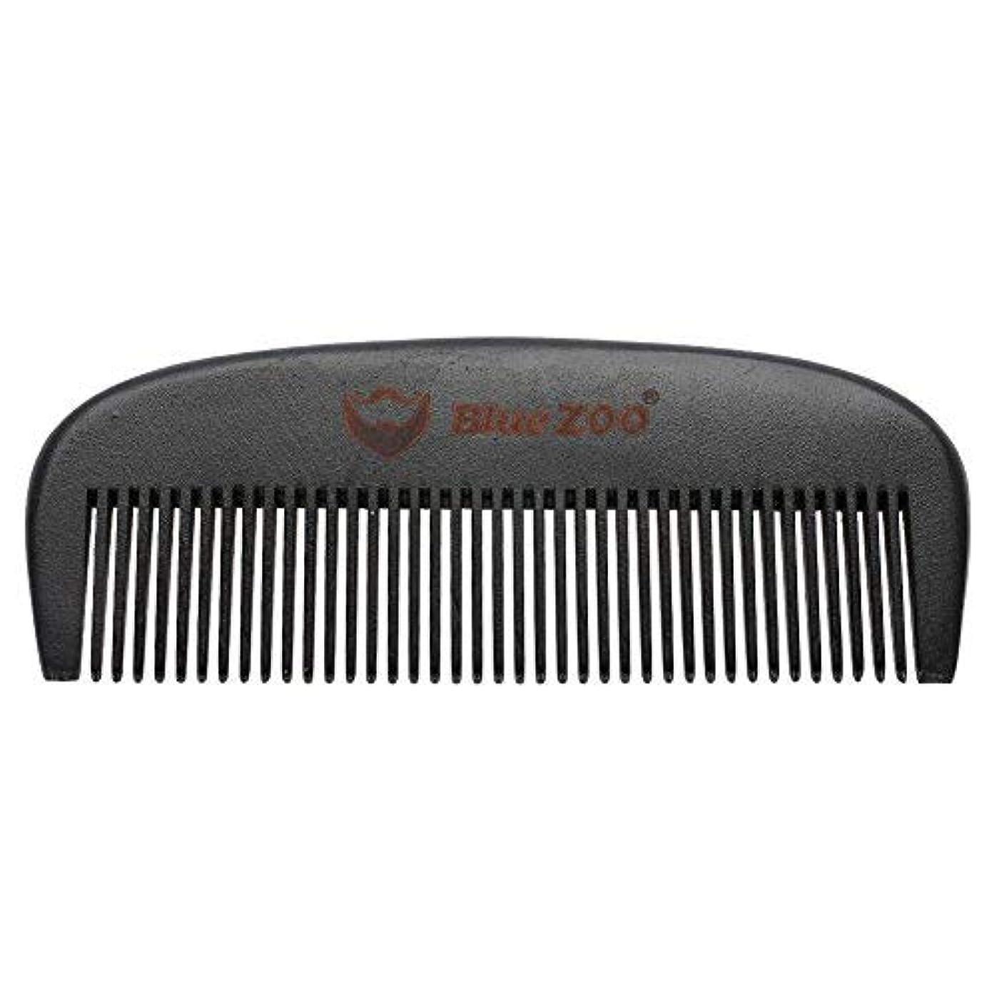 呼び出す誠実アーカイブMens Beard Comb Natural Wooden Moustache Hair Health Care Combing Black Pear Wood Anti-static Fine Wide Tooth...