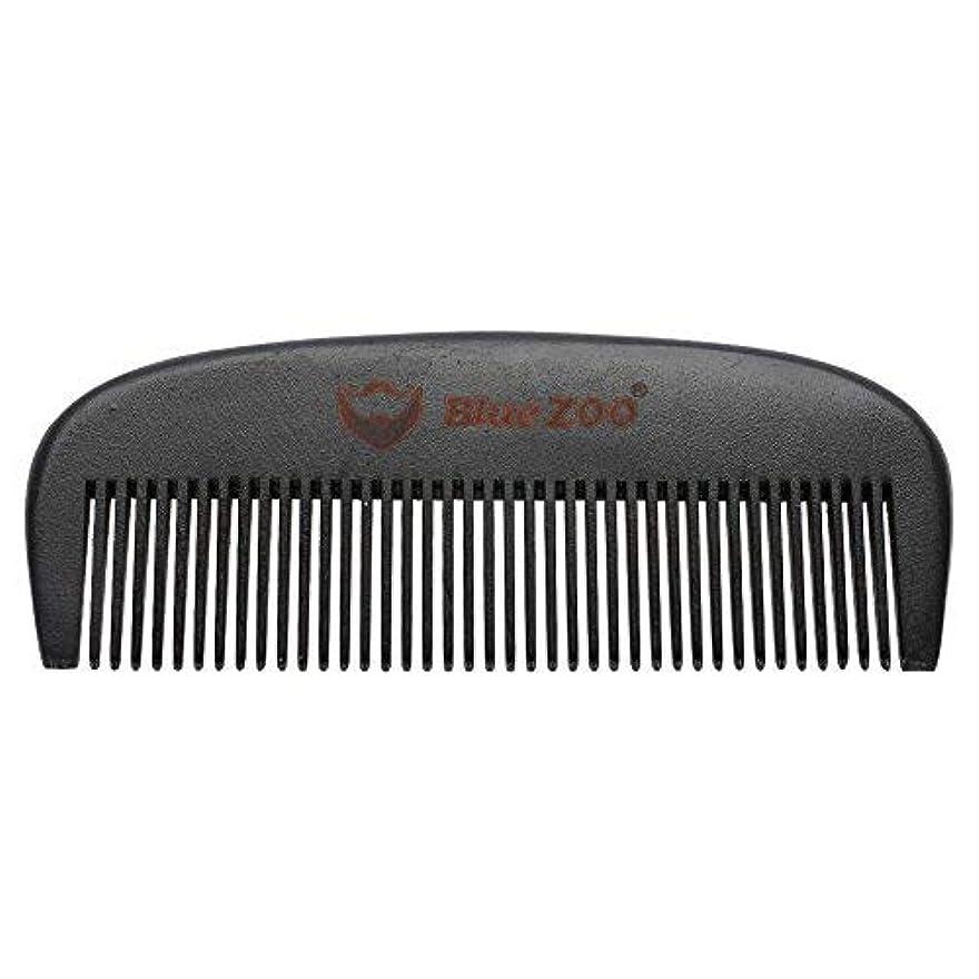 マント土奇跡Mens Beard Comb Natural Wooden Moustache Hair Health Care Combing Black Pear Wood Anti-static Fine Wide Tooth...