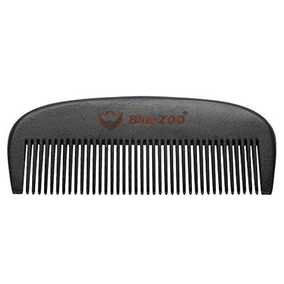 甘やかす乱雑な上陸Mens Beard Comb Natural Wooden Moustache Hair Health Care Combing Black Pear Wood Anti-static Fine Wide Tooth...