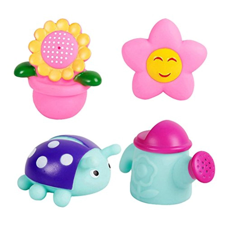SONONIA 4本 ゴム製 テントウムシ 太陽 向日葵 赤ちゃん バスおもちゃ 贈り物 多色