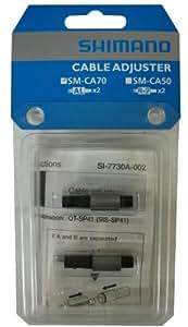シマノ ケーブルインラインアジャスター SM-CA70 ケーブルアジャスター アルミ 1ペア(2個入り) シフト用 ISMCA70P 32532