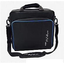 PS4 Pro収納バッグ 収納用バッグ 大容量PS4 Proケース 保護ケース 収納ポーチ 肩掛け 撥水加工 耐衝撃性 収納ポーチバッグ PS4 Pro用