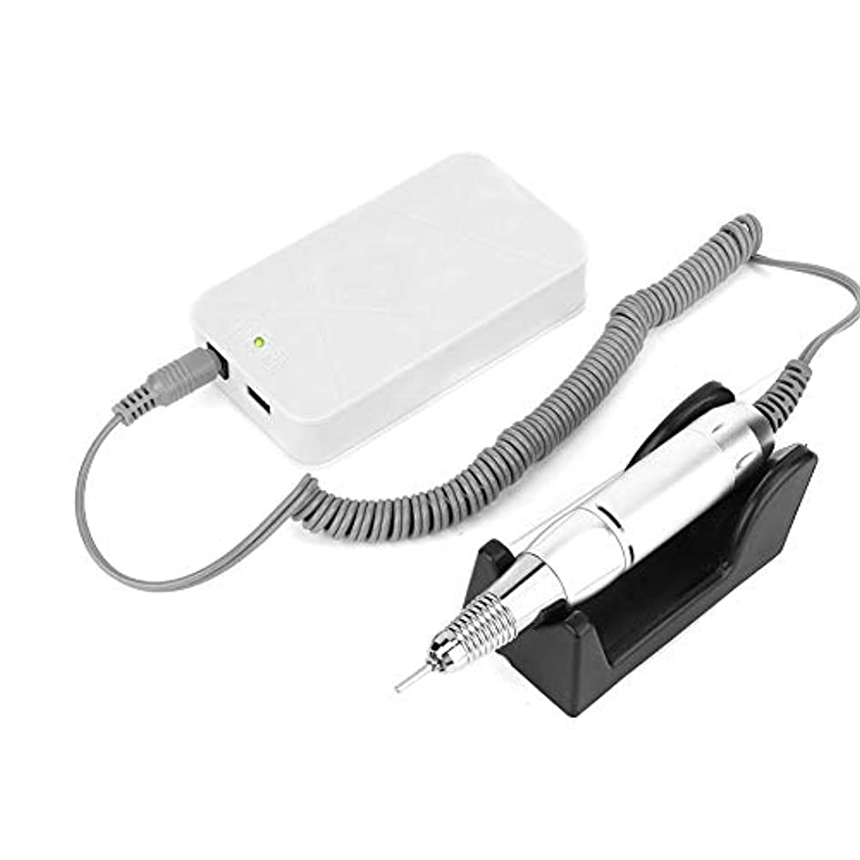 財布呼吸カジュアルポータブル電動ネイルドリルキットマニキュアツール(白)