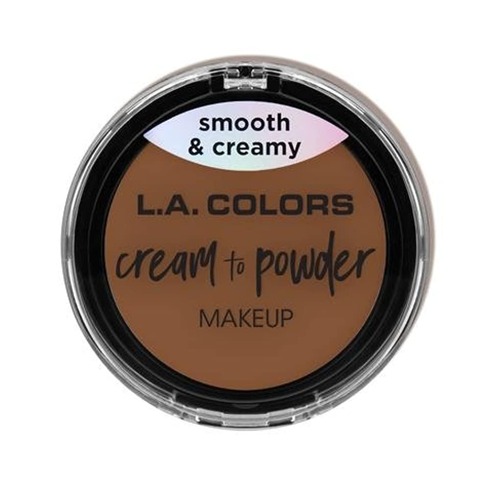 バッチガイダンス情報(3 Pack) L.A. COLORS Cream To Powder Foundation - Toast (並行輸入品)