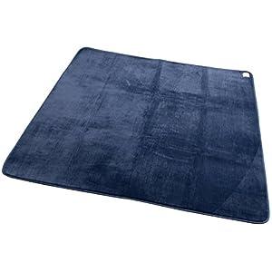 mofua (モフア) ラグ うっとりなめらかパフ 低反発 185×240cm (約3畳) ネイビー 55865007