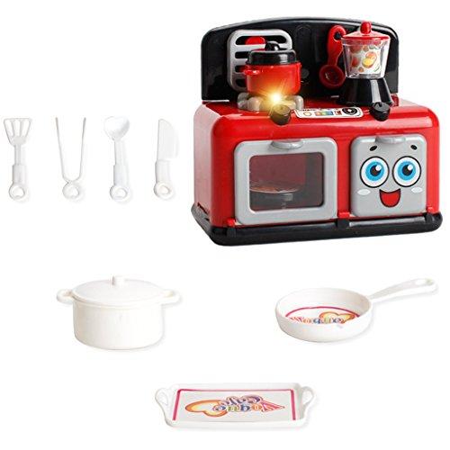 Kesoto ウッド製 認知 知育玩具 キッチン料理 電気器...