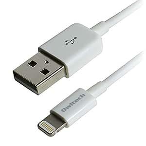 オウルテック 充電データ転送 Apple認証 ライトニングケーブル ホワイト 20cm