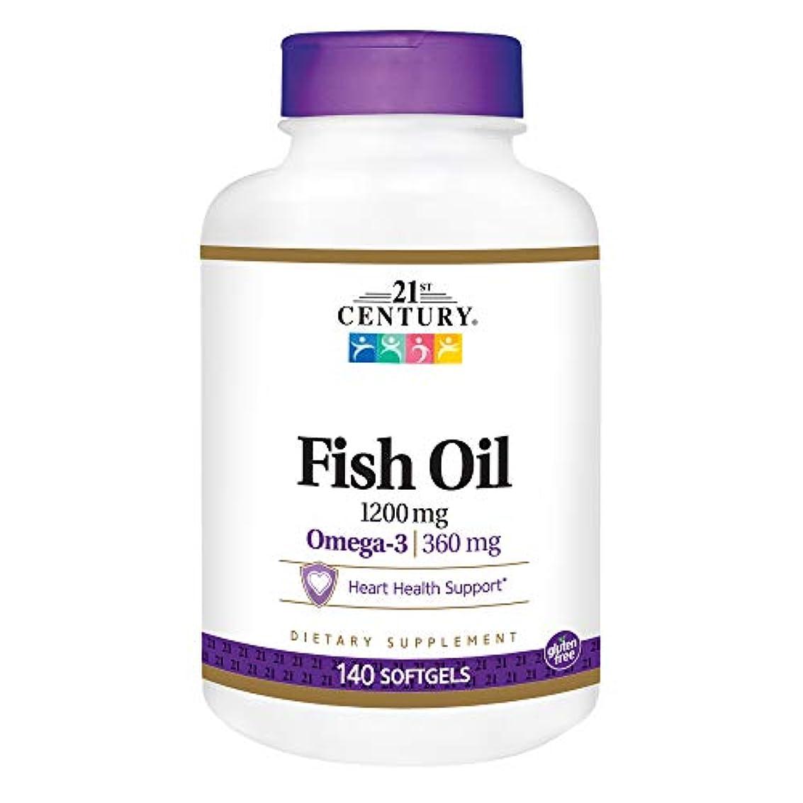 イーウェル艦隊動機付ける21st Century Health Care, Fish Oil, Omega-3, Maximum Strength, 1200 mg, 140 Softgels