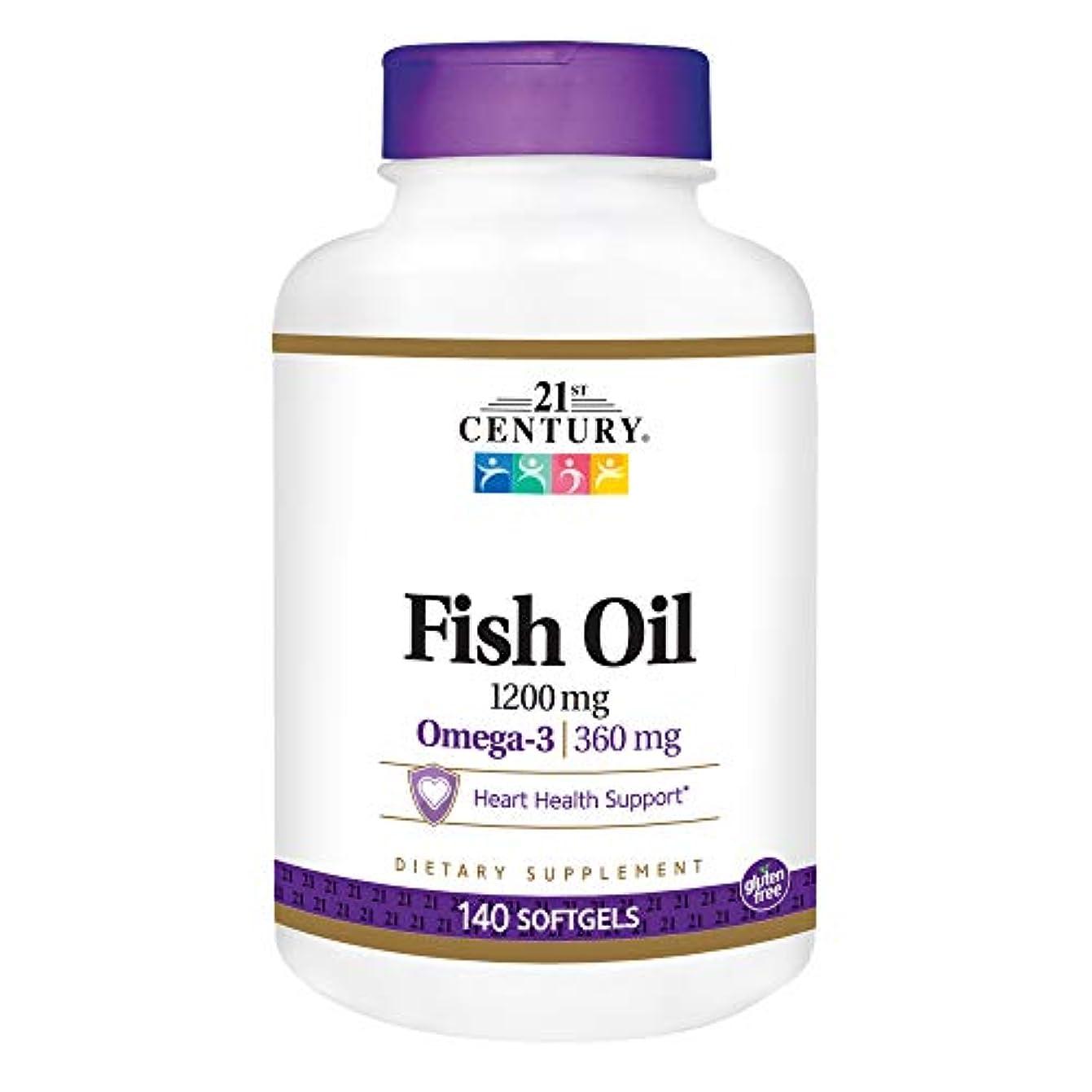 バンジージャンプ確立無駄21st Century Health Care, Fish Oil, Omega-3, Maximum Strength, 1200 mg, 140 Softgels