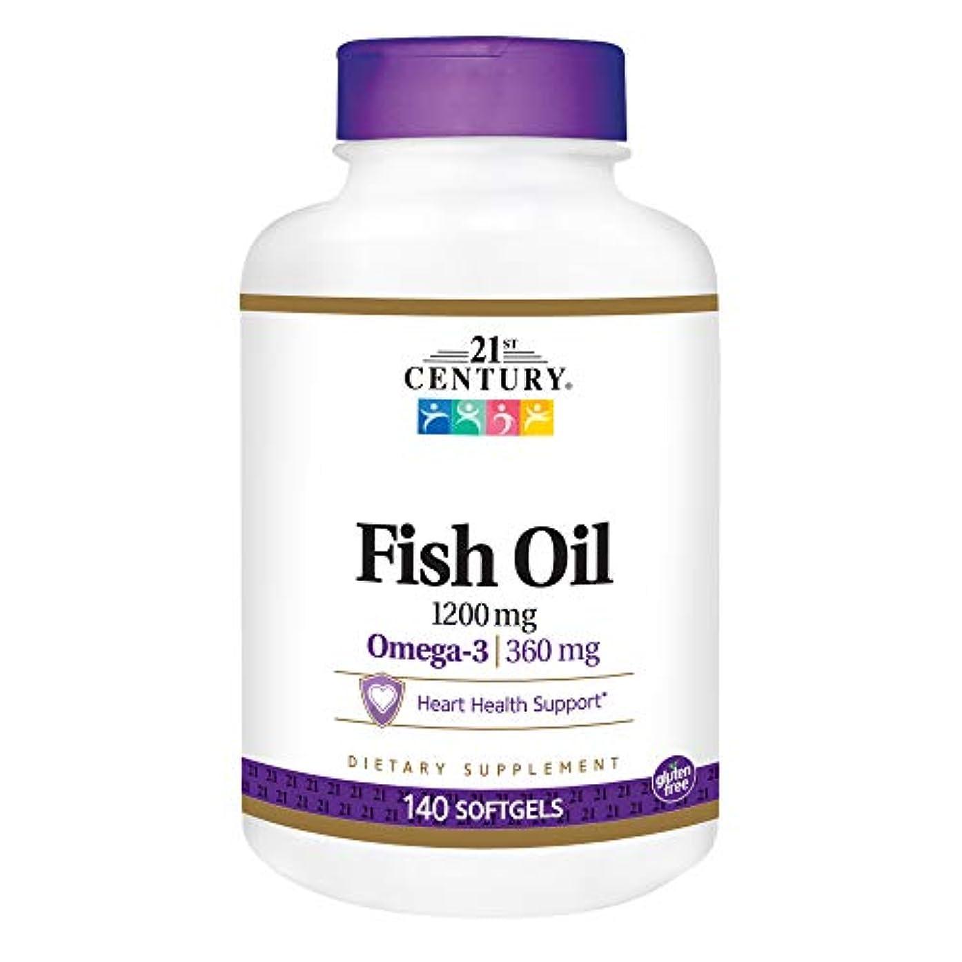 煙突ストロー裁定21st Century Health Care, Fish Oil, Omega-3, Maximum Strength, 1200 mg, 140 Softgels