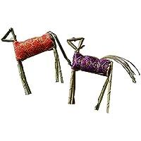 【盆提灯・盆ちょうちん】真菰製 牛馬セット(精霊馬)(q158)