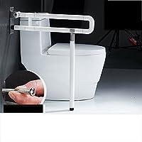 BSNOWF 老人安全トイレ浴室座って立ち上がるトイレ折りたたみ手すり手すり浴室 ( 色 : 白 , サイズ さいず : 750mm )