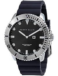 [ペリー・エリス]Perry Ellis 腕時計 DEEP DIVER(ディープ・ダイバー) クォーツ 46 mmケース シリコンバンド 02001-03 メンズ 【正規輸入品】
