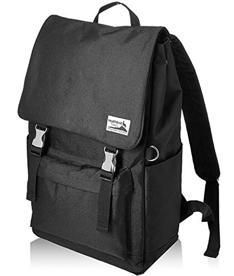 地下鉄樹木今後Healthknit (ヘルスニット) フラップデイパック 通学 旅行 通勤 バックパック バッグ 大容量 カジュアル