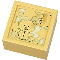 オルゴール 木製Aメロディー(?星に願いを) クマ G-6180Y