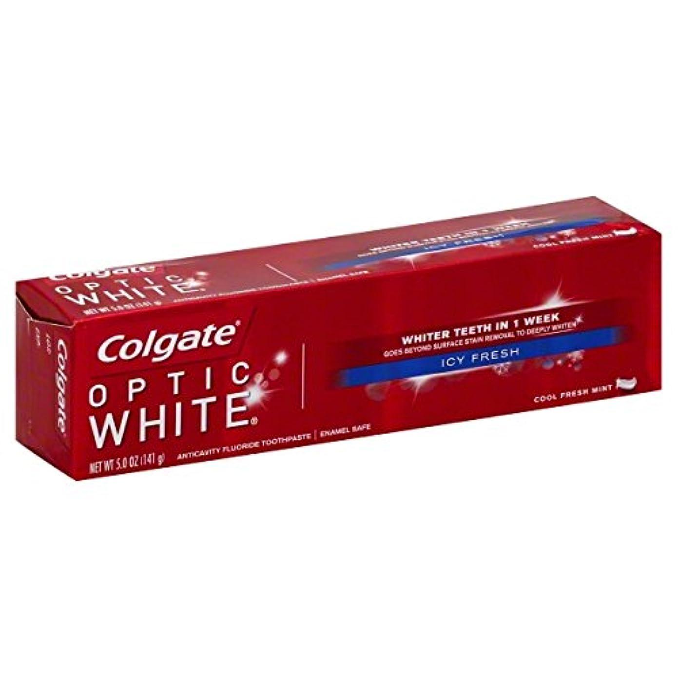 八残酷ステープルColgate オプティックホワイトハミガキ、アイシー新鮮な、5オンス(6パック)