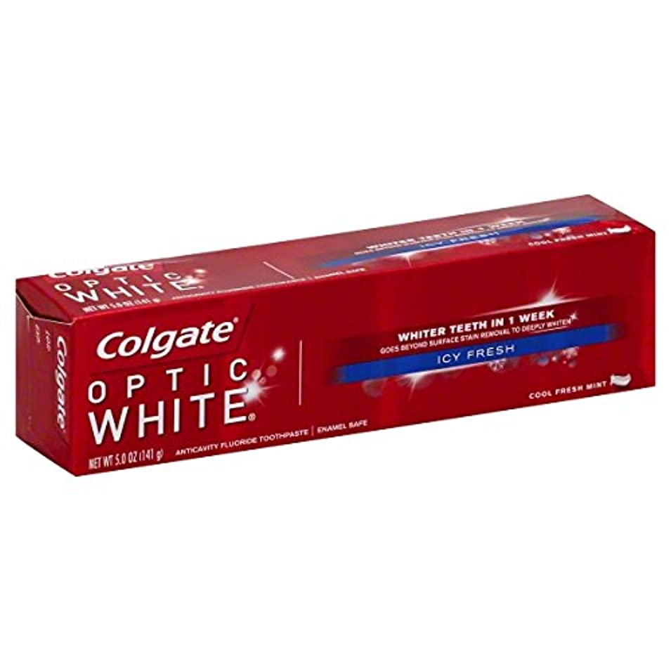 の配列トリクルいっぱいColgate オプティックホワイトハミガキ、アイシー新鮮な、5オンス(6パック)