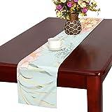 GGSXD テーブルランナー 咲く梅の花 クロス 食卓カバー 麻綿製 欧米 おしゃれ 16 Inch X 72 Inch (40cm X 182cm) キッチン ダイニング ホーム デコレーション モダン リビング 洗える