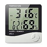 Sekway 温度計 湿度計 デジタル 高精度 温度湿度時刻表示 液晶大画面表示 置き掛け壁掛け兼用 室内用(HTC-1)