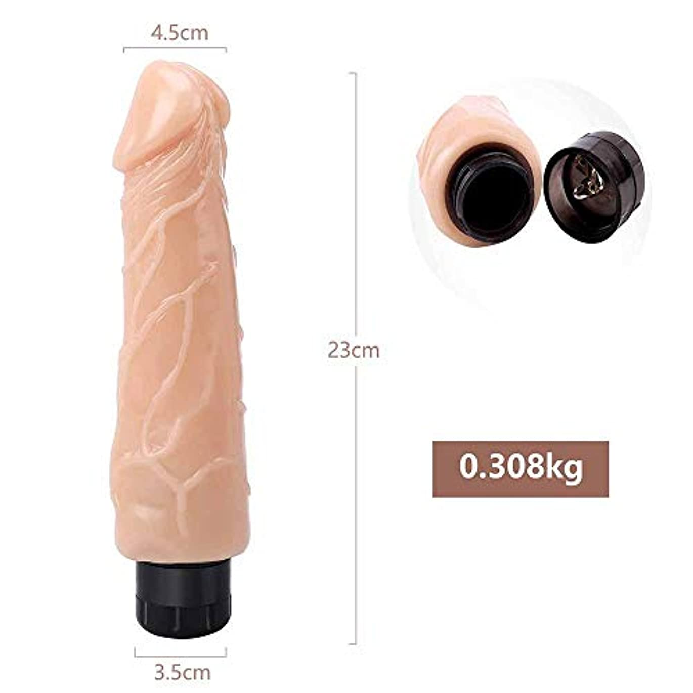 落花生小さなゴールドChicShop US 9 in Realistic-Dicks Women Relax Massager for Women男性用 、慎重なパッケージ