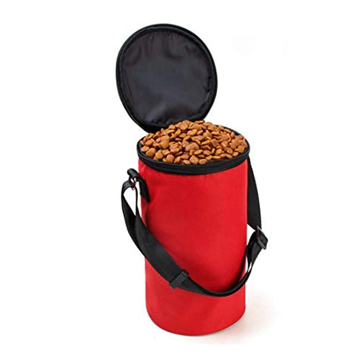 曲線ラフレシアアルノルディ履歴書CAFUTY ペット携帯ボウル 折り畳み式 防水 ペット用品 食器 犬/猫 アウトドア お出かけ用 旅行 (Color : レッド)